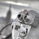 Binoculars and Empire State Building, Manhattan, New York City, USA Photographic Print by Jon Arnold