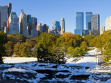 Skyline of Uptown Manhattan and Central Park, New York City, New York, USA Photographic Print by Gavin Hellier