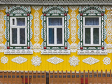 Russia, Ivanovo Oblast, Golden Ring, Plyos, House with Traditional Russian Architecture Photographic Print by Walter Bibikow
