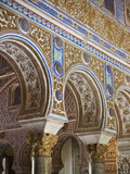 Spain, Andalucia Region, Seville Province, Seville, the Alcazar, Moorish Arches Photographic Print by Walter Bibikow