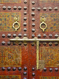 Ornate Door, Sidi Ahmed Tijani Mosque, the Medina, Fes, Morocco Fotografisk tryk af Doug Pearson
