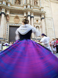 Traditional Dancing Outside the 13th Century Iglesia Y Convento Del Carmen, Valencia, Spain Photographic Print by Neil Farrin