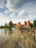 Lithuania, Trakai, Trakai Historical National Park, Island Castle on Lake Galve Photographic Print by Walter Bibikow