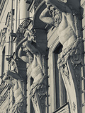 Russia, St. Petersburg, Vosstaniya, Beloselsky-Belozersky Palace Building Sculptures Photographic Print by Walter Bibikow