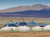Mongolia, Bayangobi and Ger Camp Photographic Print by Jane Sweeney