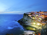 Azenhas Do Mar at Night, Near Sintra, in Front of the Atlantic Ocean. Portugal Photographic Print by Mauricio Abreu