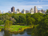 USA, New York, Manhattan, Central Park, Belvedere Lake Photographic Print by Alan Copson