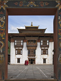 Very Fine Buddhist 17th Century Fort and Monastery at Trashi Yangtze Is Situated a Short Distance f Photographic Print by Nigel Pavitt