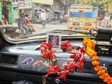 Taxi in the Streets of Kolkata. India Photographic Print by Mauricio Abreu
