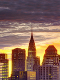 USA, New York, Manhattan, Midtown Skyline and Chrysler Building Fotografiskt tryck av Alan Copson