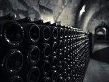 France, Marne, Champagne Ardenne, Reims, Pommery Champagne Winery, Champagne Cellars Photographic Print by Walter Bibikow