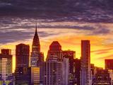 USA, New York, Manhattan, Midtown Skyline and Chrysler Building Photographie par Alan Copson