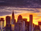 USA, New York, Manhattan, Midtown Skyline and Chrysler Building Photographic Print by Alan Copson