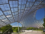 Tensile Roof Structure of the Munich Olympic Hall, Munich Olympic Park, Gern Munich, Bayern, German Photographic Print by Cahir Davitt
