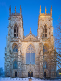 United Kingdom, England, North Yorkshire, York, the West Face of York Minster in Winter Photographic Print by Nick Ledger