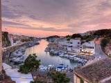 Spain, Balearic Islands, Menorca, Ciutadella, Historic Old Harbour and Old City Centre Photographic Print by Michele Falzone