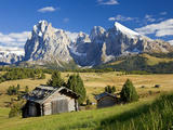 Italy, Trentino-Alto Adige, South Tyrol, Bolzano District, Alpe Di Siusi, Seiser Alm, Sassolungo (L Photographic Print by Peter Adams