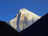 Pakistan, Gilgit-Baltistan, Hunza Valley, Karimabad, Golden Peak, also known as Spantik, Seen at Su Photographic Print by Nick Ledger
