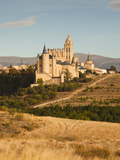 Spain, Castilla Y Leon Region, Segovia Province, Segovia, Elevated Town View with Segovia Cathedral Photographic Print by Walter Bibikow