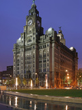 The Royal Liver Building Is a Grade I Listed Building Located in Liverpool, England, Pier Head Photographic Print by David Bank