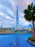 Uae, Dubai, Burj Khalifa from the Address Downtown Hotel Photographic Print by Alan Copson