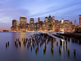 USA, New York, Morning View of the Skyscrapers of Downtown Manhattan from the Brooklyn Heights Neig Photographic Print by Gavin Hellier