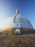 Ruvanvelisaya Dagoba, Anuradhapura, (UNESCO World Heritage Site), North Central Province, Sri Lanka Photographic Print by Ian Trower