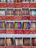 Colourful Braclets for Sale in a Shop in Jaipur, Rajasthan, India Photographic Print by Gavin Hellier