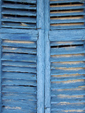 Window Shutters in Ibiza Town, Ibiza, Balearic Islands, Spain Photographic Print by Neil Farrin