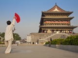 China, Shaanxi, Xi'An, Drum Tower Photographic Print by Jane Sweeney