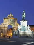 Terreiro Do Paco at Twilight, One of the Centers of the Historical City, Lisbon, Portugal Photographic Print by Mauricio Abreu