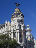 Spain, Madrid, Centro Area, Metropolitan Building Photographic Print by Walter Bibikow