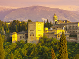 The Alhambra Palace at Sunset, Granada, Granada Province, Andalucia, Spain Photographic Print by Doug Pearson