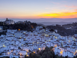 Casares at Sunset, Casares, Malaga Province, Andalusia, Spain Fotografiskt tryck av Doug Pearson