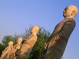India, Bihar, Bodh Gaya (Aka Bodhgaya), Statues of Bodhisattvas, or &#39;Enlightened Beings&#39;, Garden in Photographic Print by Amar Grover