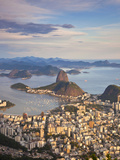 View over Sugarloaf Mountain and City Centre, Rio De Janeiro, Brazil Fotografiskt tryck av Peter Adams