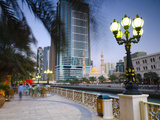 United Arab Emirates, Sharjah, Al Qasba Mosque Beside Al Qasba Canal Photographic Print by Alan Copson