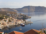 Symi Town, Symi Island, Dodecanese Islands, Greece Photographic Print by Peter Adams