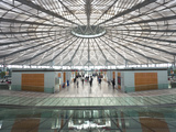 People Walking in the New Modern Shanghai South Railway Station, Shanghai, China Photographic Print by Gavin Hellier