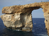 Gozo, Malta, Europe, Natural Arch Formed in Rock Called the &#39;Azure Window&#39; Found in Dwejra Photographic Print by Ken Scicluna