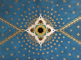 Poland, Cracow, Extraordinary Art Nouveau Ceiling Decoration in the Franciscan Church, Designed by  Stampa fotografica di Katie Garrod
