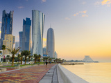 Qatar, Doha, Left to Right Palm Tower, Al Bidda Tower and Burj Qatar Photographic Print by Alan Copson