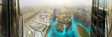 Uae, Dubai, the Address Downtown Hotel and Dubai Mall from Burj Khalifa Photographic Print by Alan Copson