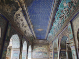 Ancient Murals in Chitrasala, Bundi Palace, Bundi, Rajasthan, India Photographic Print by Ian Trower
