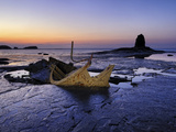 Europe, England, North Yorkshire, Whitby, Saltwick Bay at Low Tide Photographic Print by Mark Sykes