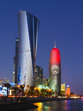 Qatar, Doha, Al Bidda Tower and Burj Qatar Photographic Print by Alan Copson