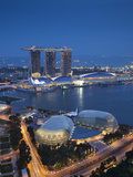 Marina Bay Sands Hotel and Esplanade Theatre, Singapore Photographic Print by Jon Arnold