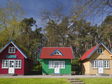 Lithuania, Western Lithuania, Curonian Spit, Nida, Village House Detail Photographic Print by Walter Bibikow