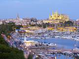 Cathedral La Seu and Harbour, Palma De Mallorca, Mallorca, Balearic Islands, Spain Photographic Print by Doug Pearson