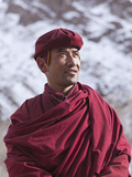 India, Ladakh, Hemis, a Senior Monk at Hemis Monastery Photographic Print by Katie Garrod